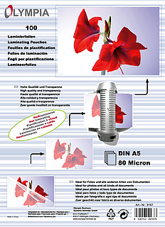 Lamination pouches DIN A5 - 80 micron