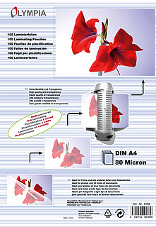 Laminierfolien DIN A4 - 80 micron - 100 Stück