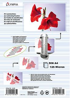 Laminierfolien DIN A4 - 125 micron - 25 Stück