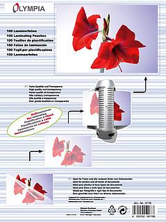 Feuilles de plastification DIN A4 - 125 microns - 100 pièces
