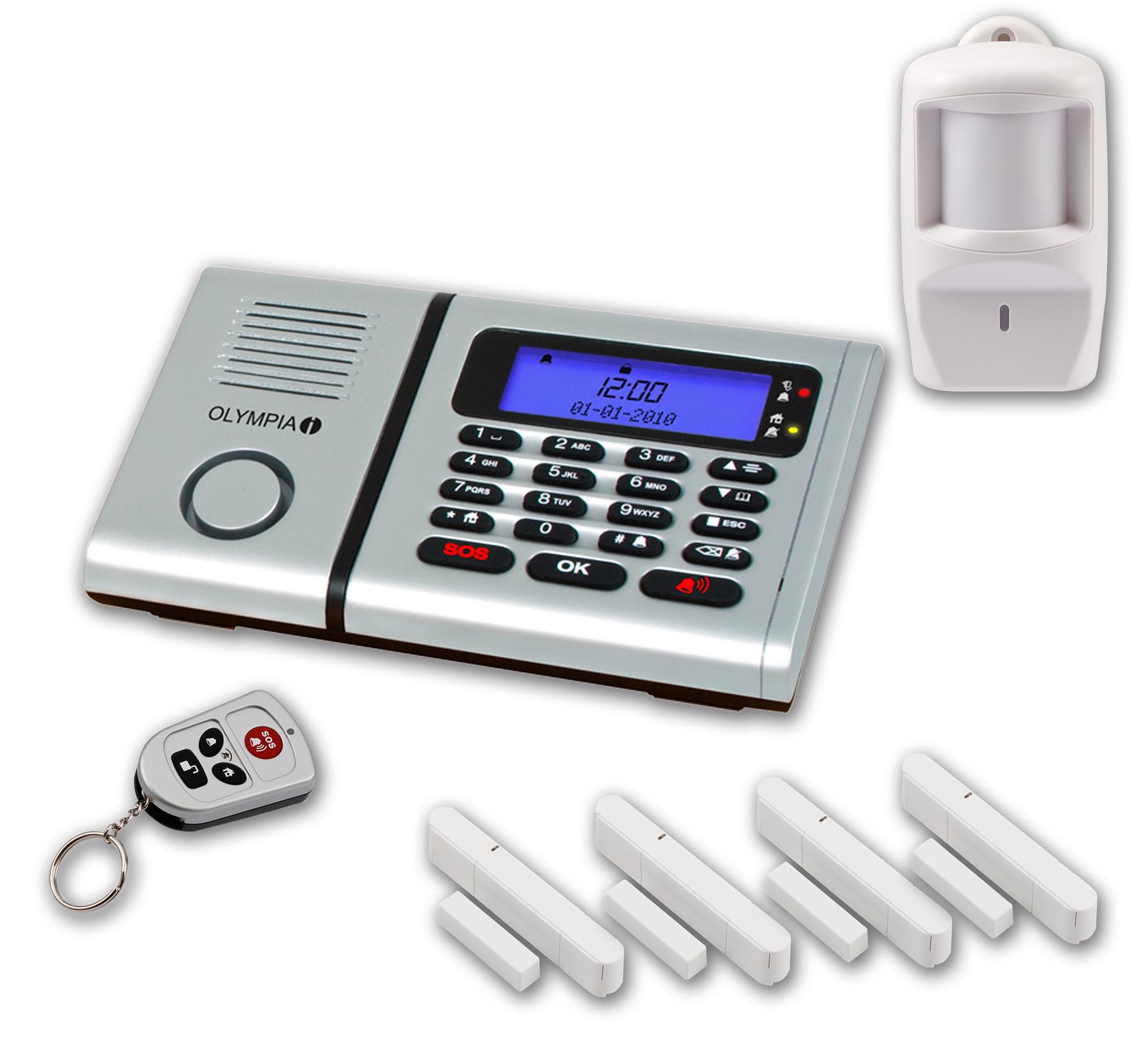 OlympiaProtect9571 Drahtlose Haus Funk Alarmanlage Notruf Freisprechfunktion GSM